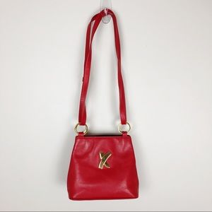 Paloma Picasso Red Leather Crossbody Bag Shoulder